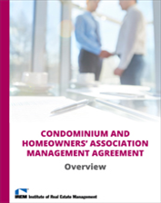 IREM Publication: Sample Condominium and Homeowners Association Management Agreement