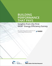 IREM Publication: Building Performance That Pays: Insights from the First IREM Energy Efficiency Survey