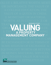 IREM Publication: Valuing a Property Management Company (eBook)