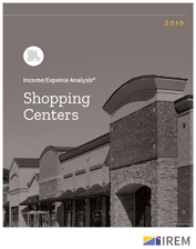 IREM Publication: Income/Expense Analysis: Shopping Centers Interactive PDF/Excel (2019)