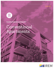 IREM Publication: Income/Expense Analysis: Conventional Apartments Interactive PDF/Excel (2019)