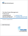 IREM Publication: IREM White Paper on Leadership Development: Effective Communication (Download)